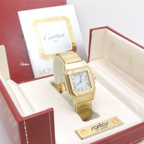 Cartier Santos Galbee Large Automatic Oro Yellow Gold Full Set