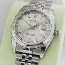 Rolex Datejust 36mm Silver Index Stick Jubilee 116200 Box and...