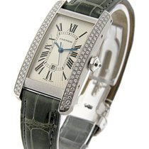 Cartier WB702651 Tank Americain - MID SIZE - 2 Bar Diamond...
