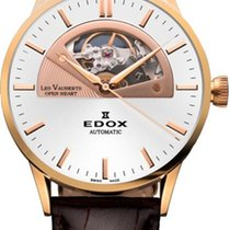 Edox Men's Watch Les Vauberts Open Heart Automatic Brown...