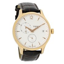 Tissot Tradition GMT Mens Brown Leather Swiss Watch T063.639.3...