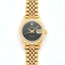 Rolex Lady's Datejust Yellow Gold Full Diamond Ref. 69138