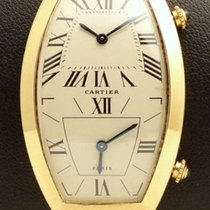 Cartier Tonneau Dual Time Yellow gold
