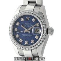 Rolex Datejust 26mm Custom Diamond Bezel Sodalite Diamond Dial...
