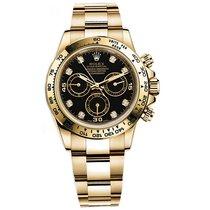 Rolex DAYTONA 18K Yellow Gold Black Diamond Dial 2016
