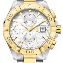 TAG Heuer AQUARACER CALIBRE 16 Gold Steel Chronograph CAY2121...