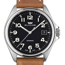 Glycine Combat 6 automatic Leather strap 36 mm