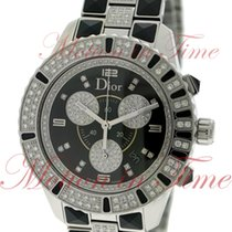 Dior Christal Chronograph Ladies, Black Diamond Dial, Diamond...