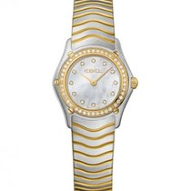 Ebel Classic Yellow Gold Steel Case and Strap, Diamond Bezel