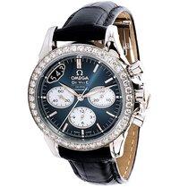 Omega NEW De Ville Steel & Diamond Auto Chrono Chronometer...