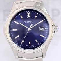 Ebel Wave blue Dial Seel 40mm Klassiker NEU B+P Dresswatch