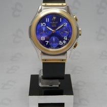 Hublot Elegant Chrono Steel Gold Blue Navy Automatic