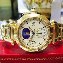 Cartier Pasha Ref. 30001 18k Yellow Gold 38mm Moon Date Watch...