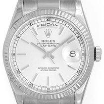 Rolex President Day-Date Men's 18k White Gold Watch 118239