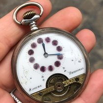 Hebdomas Pocket Watch Manuale tasca silver 8 giorni 8 days