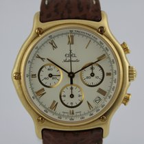 Ebel 1911 Automatik Chronograph #K2809/8 18k Gold, Box, Papiere