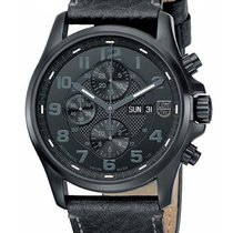 Luminox Mens Blackout Valjoux Field Automatic Chronograph -...
