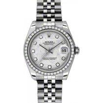 Rolex Datejust Ladies Midsize 178384-MTDDJ Meteorite Diamond...