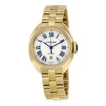 Cartier Cle Flinque Dial 18kt Yellow Gold Ladies Watch