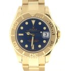 Rolex YachtMaster 35MM Yellow Gold Blue Dial Oyster Midsize...