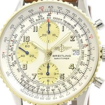 Breitling Old Navitimer 18k Gold Steel Automatic Watch D13022...