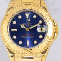 Rolex Yachtmaster Gold medium blue Dial Full Set Luxus...