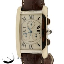 Cartier Tank Americaine Chronograph Solid 18k White Gold...