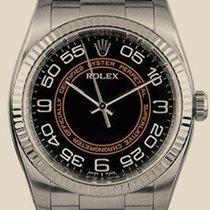 Rolex Perpetual black and orange dial