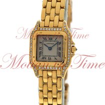 Cartier Panthere Small, Ivory Dial, Diamond Case & Lugs -...