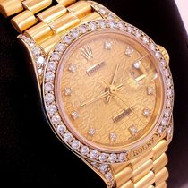 Rolex Ladies President Crwon Collection 18k Y Gold Fact...