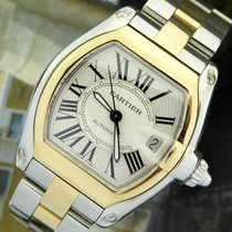 Cartier Roadster 18k Y/S Silver Dial Mens Automatic Watch