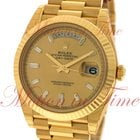 Rolex Day-Date 40mm President, Champagne Diamond Dial, Fluted...
