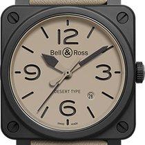 Bell & Ross BRS-DESERT-TYPE NEU mit Box+Papieren