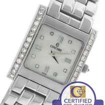 Concord La Tour White MOP Diamond 14K White Gold 66.25.648 Quartz
