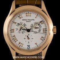 Patek Philippe 18k Rose Gold Silver Roman Dial Annual Calendar...