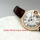 Cartier W6920097 Ballon Bleu 33mm Rose Gold w leather strap