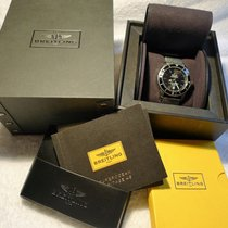 Breitling SUPEROCEAN HERITAGE 46 cadran noir  bracelet maille...