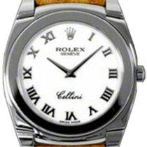 Rolex Cellini Cestello 5330-9 White Roman White Gold Brown...