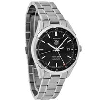 TAG Heuer Carrera Mens Twin-Time Black Dial Swiss Automatic...