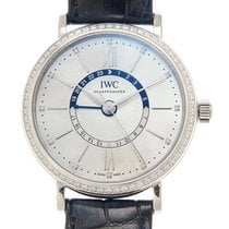 IWC Portofino Stainless Steel With Diamonds White Automatic...