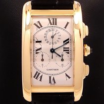 Cartier Tank American Jumbo 18k Yellow Gold Chronoreflex On...