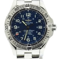 Breitling Superocean Blue Dial Automatic Stainless Steel