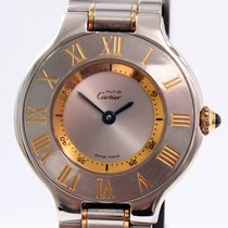 Cartier Must 21 Gold/Steel Lady 28mm