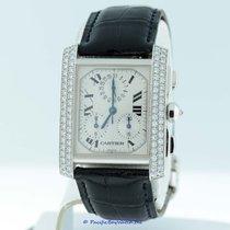 Cartier Tank Fransaise Chronoflex White Gold Diamond Pre-owned