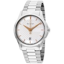 Gucci G-timeless Silver Dial Stainless Steel Unisex Watch...