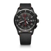 Victorinox Swiss Army Airboss cronograph, black PVD steel...
