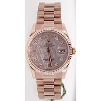 Rolex President Day-Date 118235 18K Rose Gold Men's New...