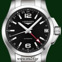 Longines Conquest GMT Automatic 41mm Black Dial