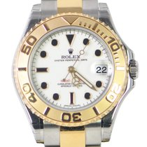 Rolex Yacht Master Gold And Steel White Automatic 168623WT
