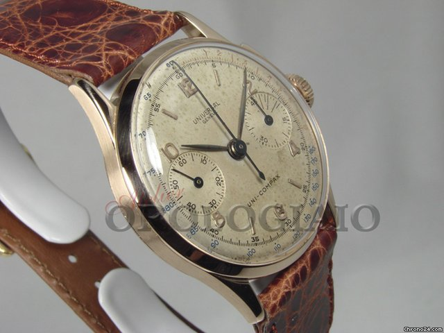 Universal Genve Uni-Compax Chrono Anni &amp;#39;50 Oro Rosa